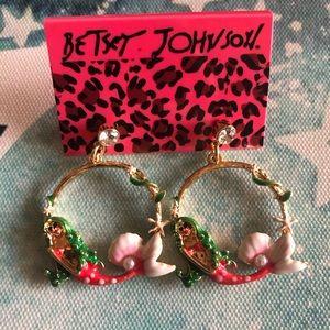 NEW✨ Betsey Johnson Mermaid Hoop Dangle Earrings